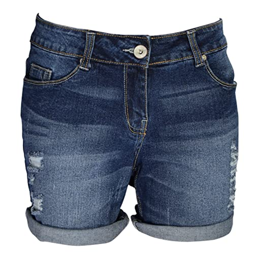 AFS Ladies Stretchy Denim Shorts Distressed Jeans Boyfriend Skinny Hotpants  Ripped Rollup Half Pants 25b4546aab2