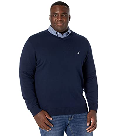 Nautica Big & Tall Big Tall Sweater V-Neck (Navy) Men