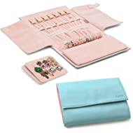 Becko Jewelry Organizer Roll Travel Jewel Bag case for Multiple Necklaces, Rings, Bracelets,...