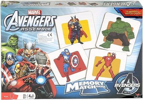 Kinder Marvel Avengers Assemble Memory Match Kartenspiel Puzzle für Alter 5 NEU
