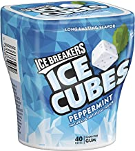 Ice Breakers Ice Cubes Gum, Peppermint, Sugar Free with Xylitol, 40 Pieces (Pack of 4)
