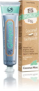 DR GINGER'S Coconut Mint Coconut Oil Toothpaste, 4 OZ