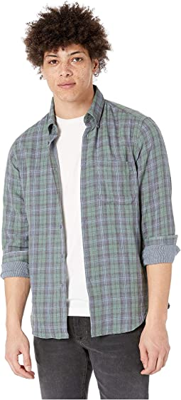 Plaid Double Cloth/Green/Navy