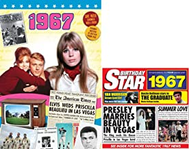 1967 Birthday Gifts Pack - 1967 DVD Film , 1967 Chart Hits CD and 1967 Birthday Card