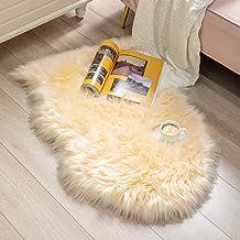 BAYKA Faux Sheepskin Fur Area Rug, Luxury Area Rug, Soft Furry Carpet Rug for Bedroom, Children's Room, Decor Rug 2.1x3 Fe...