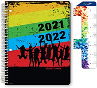 """Dated Middle School or High School Student Planner for Academic Year 2021-2022 (Matrix Style - 7""""x9"""" - Silouette) - Bonus ..."""