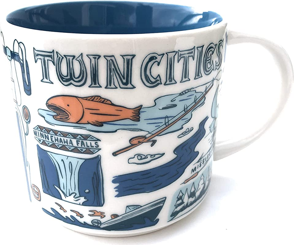 Starbucks TWIN CITIES MN Been There Series Across The Globe Collection Coffee Mug 14 Ounce