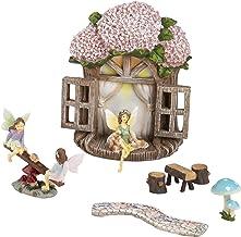 Juvale - Kit de accesorios para jardín de hadas, gnomo en miniatura y seta cifras, set decorativo para césped, al aire última intervensión, patio trasero, patio frontal, decoración del