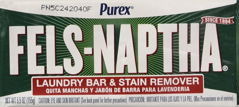 戸口同じ抑制Dial Corp. 04303 Fels-Naptha Laundry Bar Soap - Pack of 4 by Dial