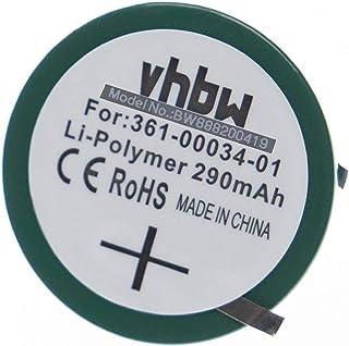 vhbw batería de botón Compatible con Garmin Forerunner 405, 405CX, 410, 410CX smartwatch Reloj Pulsera de Fitness de Actividad (290mAh, 3.7V)