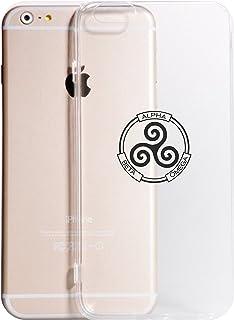 Cover iPhone XS - XR - XS Max -8-8 Plus - X - 6-6 Plus - 6S - 6S Plus - 7-7 Plus - Alpha Beta Omega Trasparente Vari Colori AntiGraffio Antiurto Case Custodia