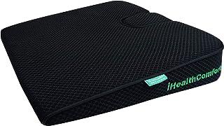 iHealthComfort Portable Wedge Seat Cushion Orthopedic Memory Foam Wellness Cushion (16x13.7) bene171218