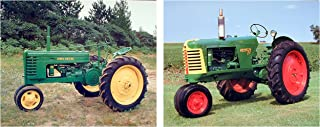 Wall Decoration Art Print Picture Vintage John Deere and Oliver Crop Tractor Two Set Poster (8x10)