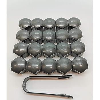 Kesoto Car Wheel Nut Caps Car Wheel Hub Screw Cover Lug Cover 19 Mm Screw Rims Grey Auto