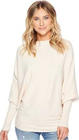 American Rose - Penelope Dolman Sleeve Ribbed Sweater