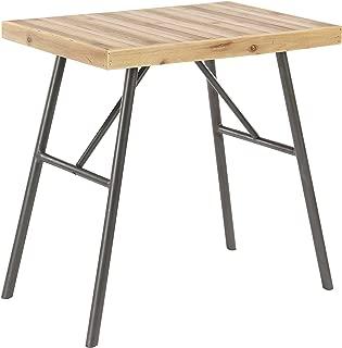 Deco 79 89257 侧桌,棕色/深褐色/米色/黑色