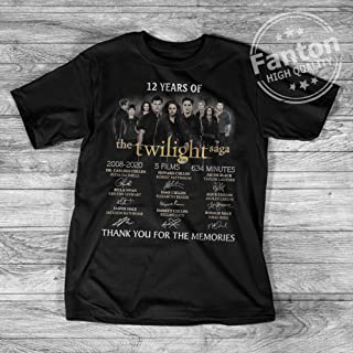 12 Years Of The Twilight Saga Shirt Thank You For The Memories Signatures T Shirt For Men Women