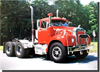 Impact Posters Gallery Wall Decor Red Mack Semi Big Rig Diesel Truck Art Print Picture (8x10)