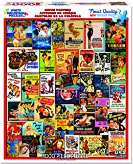 White Mountain Puzzles- Classic Movie Posters- 1,000 Piece Jigsaw Puzzle