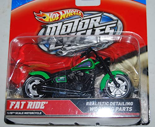 Hot Wheels 2012 Motorcycles Fat Ride 1 18th Realistic Detail