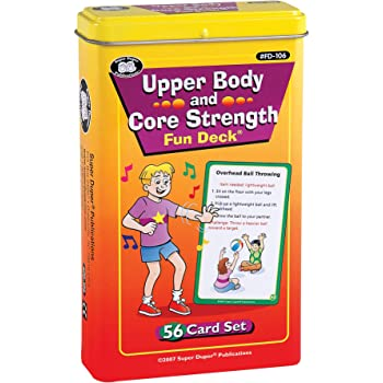 Super Duper Publications   Upper Body and Core Strength Fun Deck   Occupational Therapy Flash Cards   Gross Motor Movement Activity   Educational Learning Materials for Children