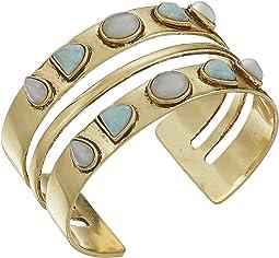 Double Stone Cuff Bracelet