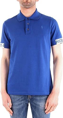 Cesare Paciotti 4Us Homme TA1208ROYAL Bleu Coton Polo