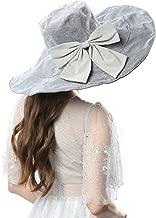 Janey&Rubbins Women's UV Protection 7' Wide Brim 100% Cotton Vacation Beach Sun Hat