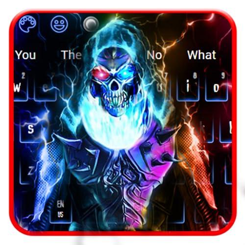Neon Ghost Keyboard Theme