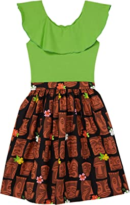 Ruffle Collar Abbie Dress Tiki (Little Kids/Big Kids)