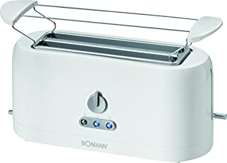 comprar comparacion Bomann TA 245 CB Tostadora 4 rebanadas, 3 funciones, calienta panecillos, 1400 W, Plástico, Blanco