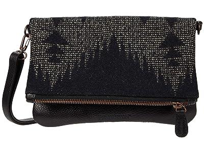 Pendleton Sonora Black Fold-Over Clutch (Sonora Black) Clutch Handbags