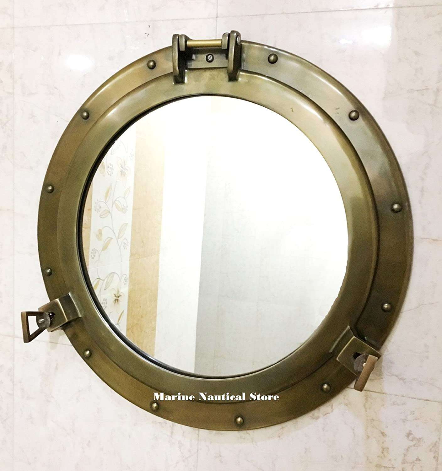 20  Antique Canal Boat Porthole-Window Ship Round Mirror Home Wall Decor