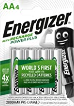 Energizer Rechargeable Batteries AA, Double A Power Plus, 4 Pack