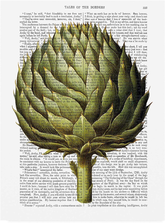 Trademark Fine Art Globe Artichoke Print 2 by Fab Funky, 14x19