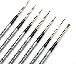 AIT Art Select Red Sable Detail Brush Set, 7 Pure Russian Sable Paint Brushes, Handmade in Germany for Crafting Exquisite ...