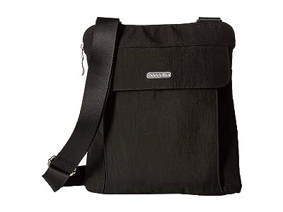 Baggallini All in RFID Slim Crossbody (Charcoal) Handbags