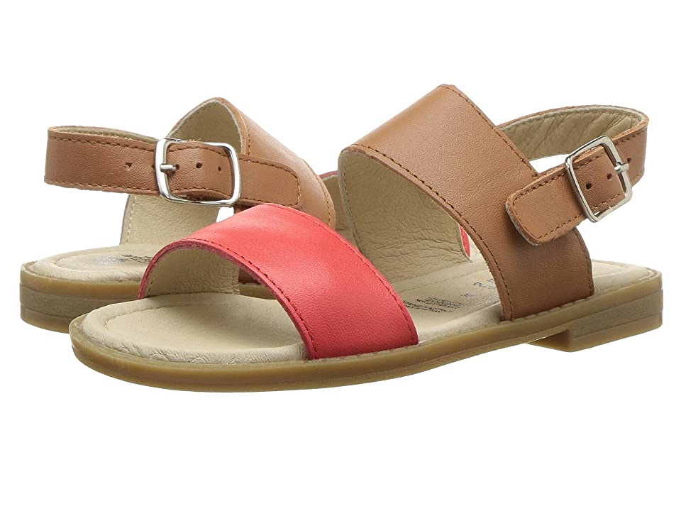 Old Soles Check-In Sandal (Toddler/Little Kid) (Bright Red/Tan) Girl