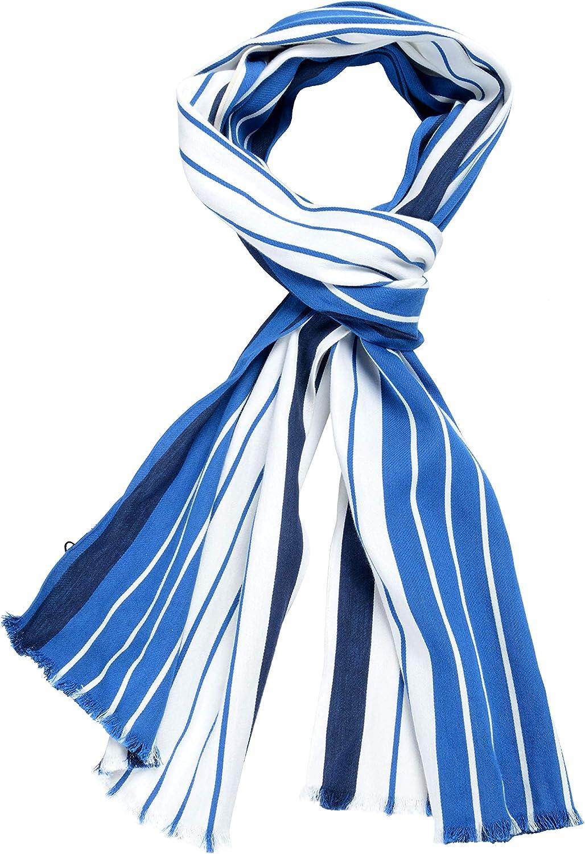 Hugo Boss Caleppo  Silk Multicolor Striped Scarf