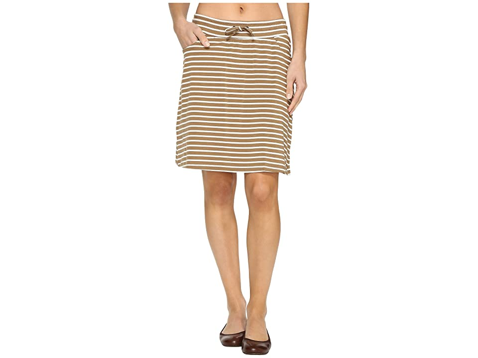 Toad&Co Tica Skirt (Honey Brown Stripe) Women