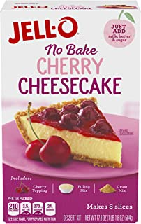 Jell-O No Bake Cherry Cheesecake Dessert Mix, 17.8 oz Box (Pack of 6)