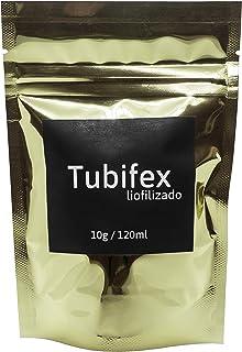 軍艦 GUNKAN Gusano de Fango Tubifex liofilizado en Cubos 10g/.35oz/120ml. Alimento para Peces Tropicales, Peces Disco, ajolotes, Ranas, salamandras, alevines, Entre Otros. Alta proteína.