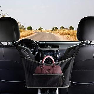 Car Net Pocket Handbag Holder,Seat Back Net Bag, Handbag Holder for Car, Driver Storage Netting Pouch,Barrier of Backseat ...