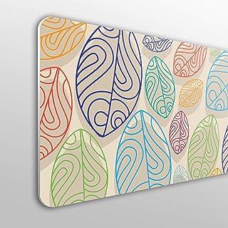 MEGADECOR Cabecero Cama PVC 10mm Decorativo Económico Textura Hojas De Planta Abstracto Fondo Beige (135cm x 60cm)