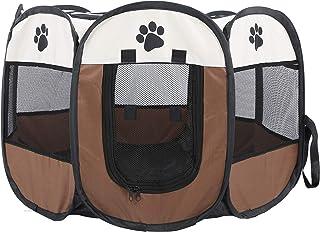Ejoyous Fällbart husdjurstält, bärbar valplekhage djurlekhage med andningsaktivt nät, för inomhus och utomhus katter kanin...
