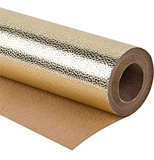 WRAPAHOLIC Gift Wrapping Paper Roll - Sparkle Gold for Birthday, Holiday, Wedding, Baby Shower Gift Wrap - 30 inch x 16.5 feet