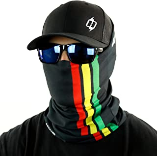 Rasta Stripe Bandana Neck Gaiter And Even A Dread Wrap By Hoo-rag - Rock The Rag In Style