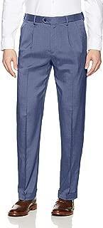 Men's Pleated Stretch Crosshatch Dress Pant