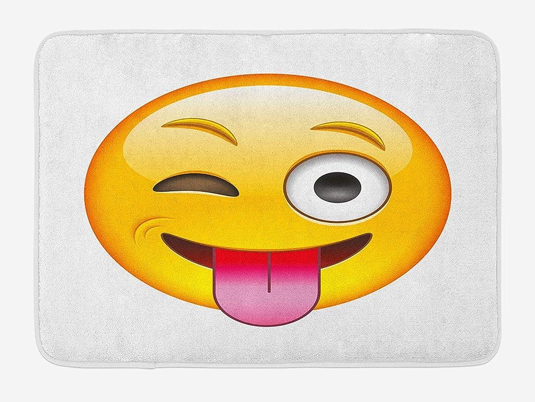 悪夢綺麗なスチールAmxxy 漫画スタイルスマイリーいちゃつく風刺風刺スマイリー舌舌でモダンなプリントモダンなバスルーム家の装飾滑り止めバスマットドアマットフランネル素材屋外ドア装飾ルーム