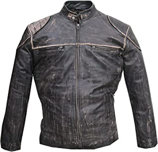 Antique Men's Vintage Distressed Retro Motorcycle Jacket
